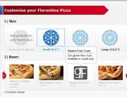Domino's gluten free pizza