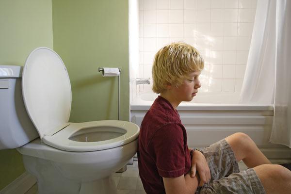 coeliac disease - boy feeling ill