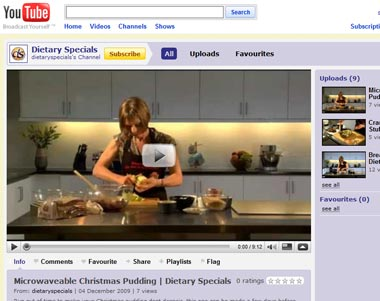 dietary specials on youtube