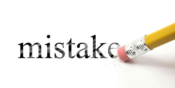 making a mistake