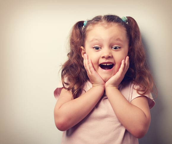 girl excited by gluten free food shortlist